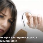 Классификация выпадения волос в китайской медицине
